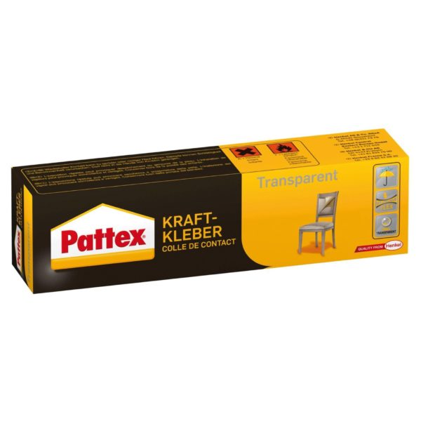 Pattex Kraftkleber Transparent Produktbild Schachtel