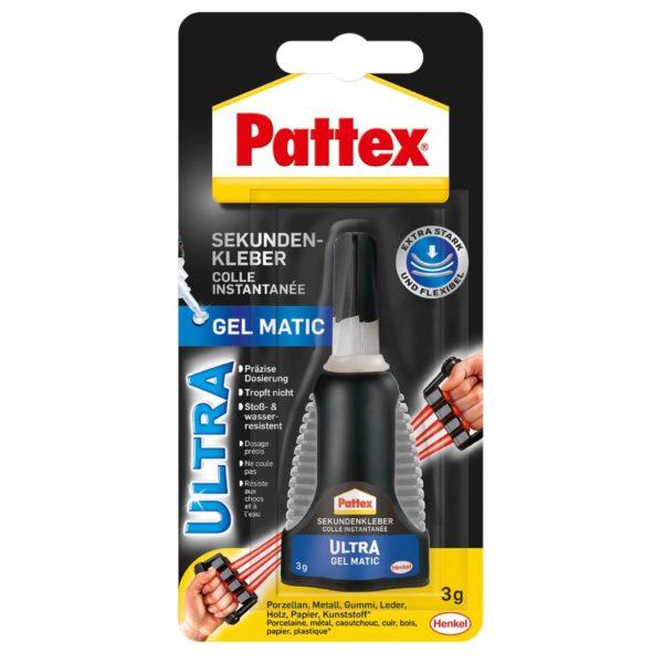Pattex Sekundenkleber Ultra Gel Matic Produktbild Blisterkarte