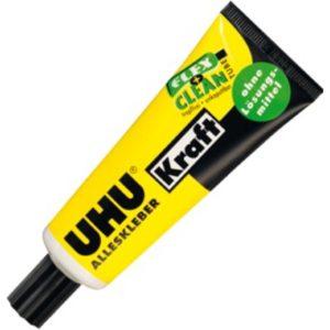 UHU Alleskleber Kraft ohne Lösungsmittel Produktbild Tube Flex + Clean