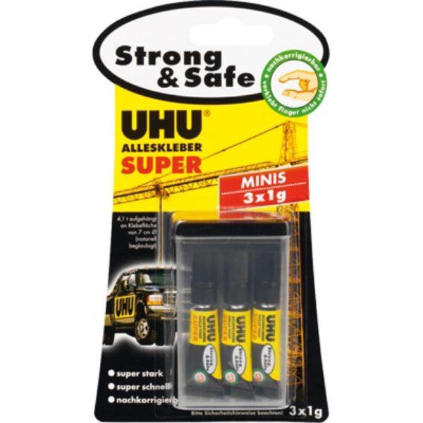 UHU Alleskleber Super Strong & Safe Minis Produktbild Blisterkarte